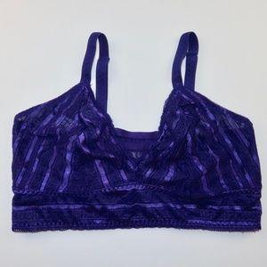 Torrid Plus Size Bralette Sz 0 Purple Lace